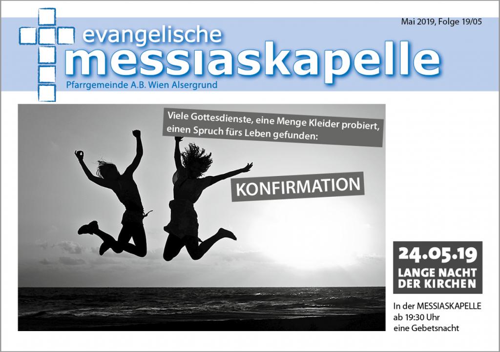 Titelseite Gemeindezeitung Mai 2019